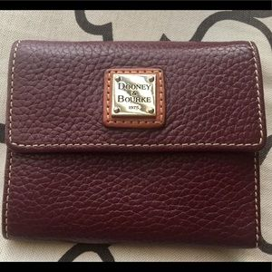 Dooney & Bourke Trifold Pebbled Leather Wallet
